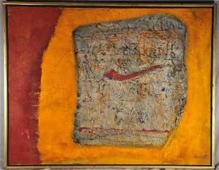 """Enrico Donati. """"Fossil Series 1962 3001 BC"""" Oil and"""