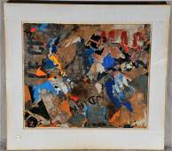 Ernst Van Leyden. 1961. Abstract collage painting.