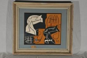 Charles Edouard Jeanneret Le Corbusier. Silkscreen