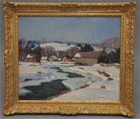 Gianni Cilfone (1908-1992), Oil on canvas Brown County