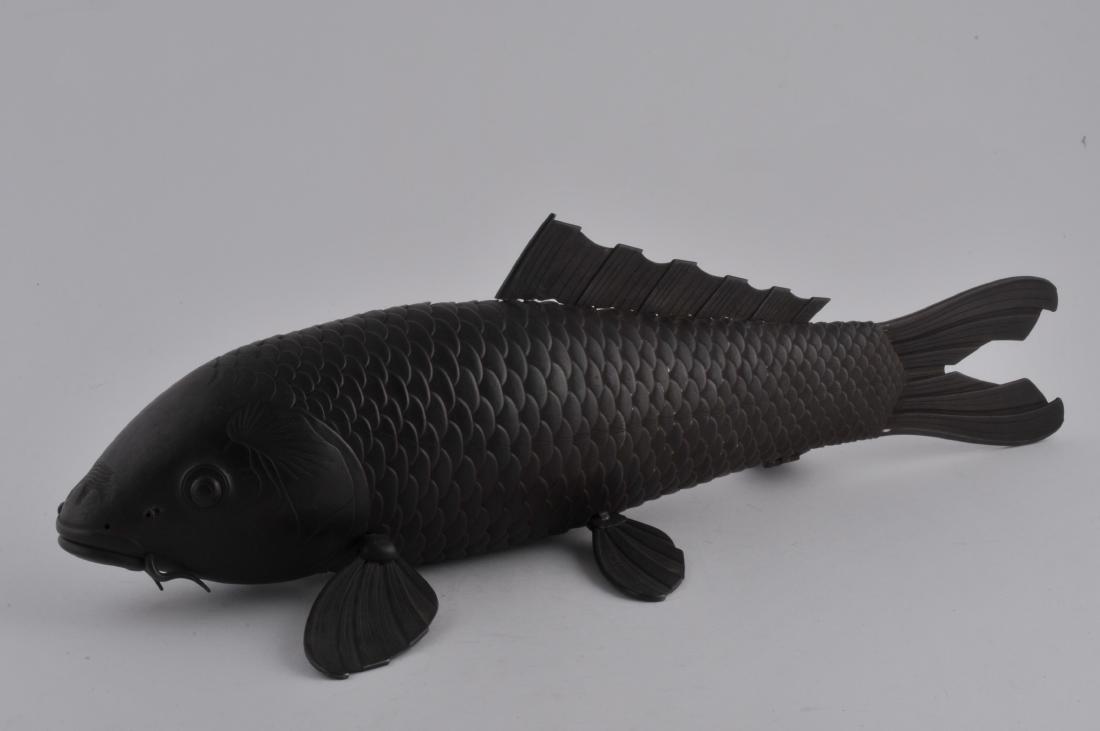 Articulated iron carp. Japan. Meiji period.