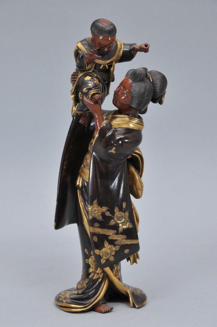 Bronze figure. Japan. Meiji period. Miya-O Figure.