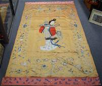 Silk embroidery China 18th19th c Immortals