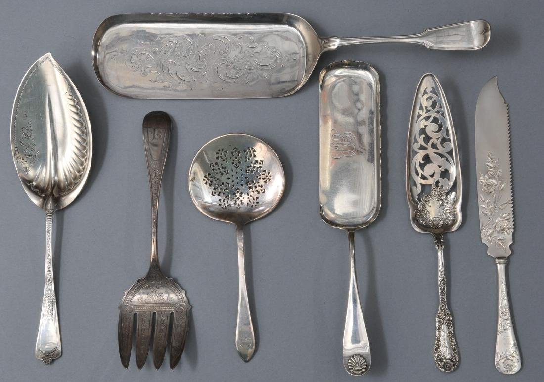 Seven large pieces of 19th and 20th Century American