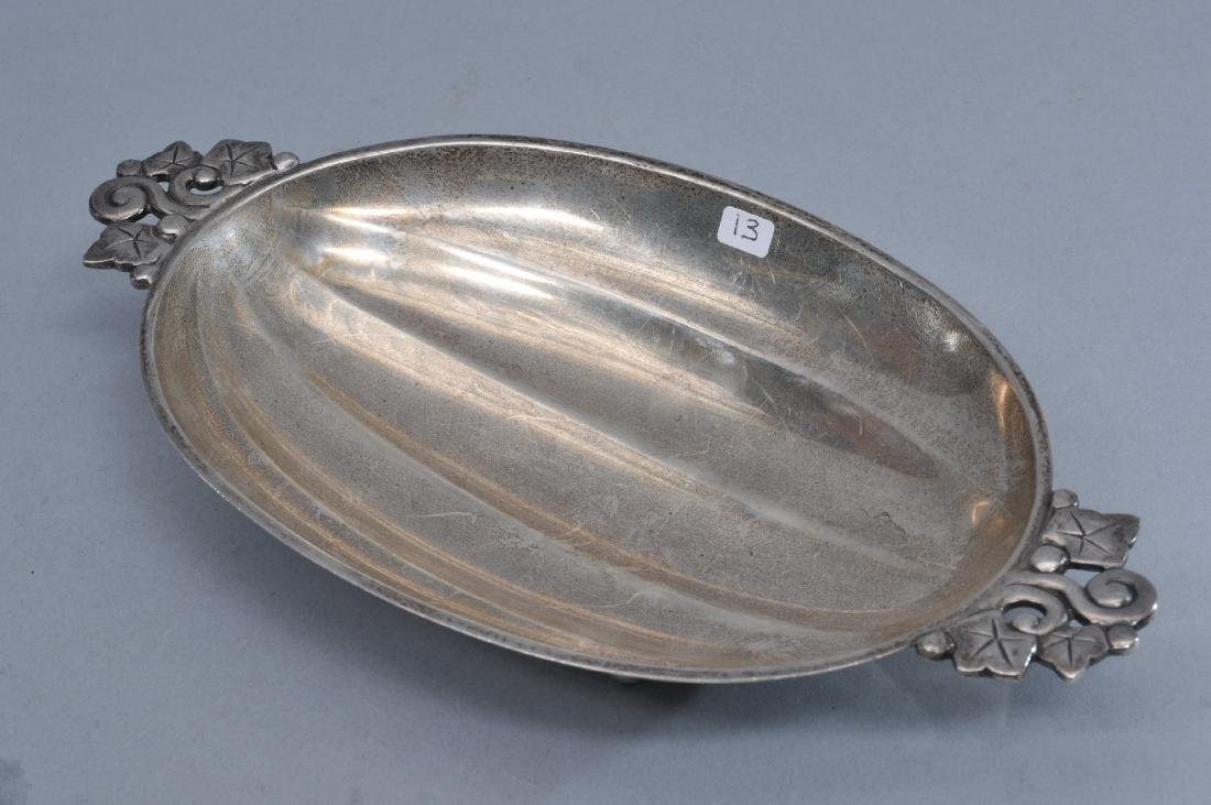 Tiffany & Co. sterling silver melon form two handled