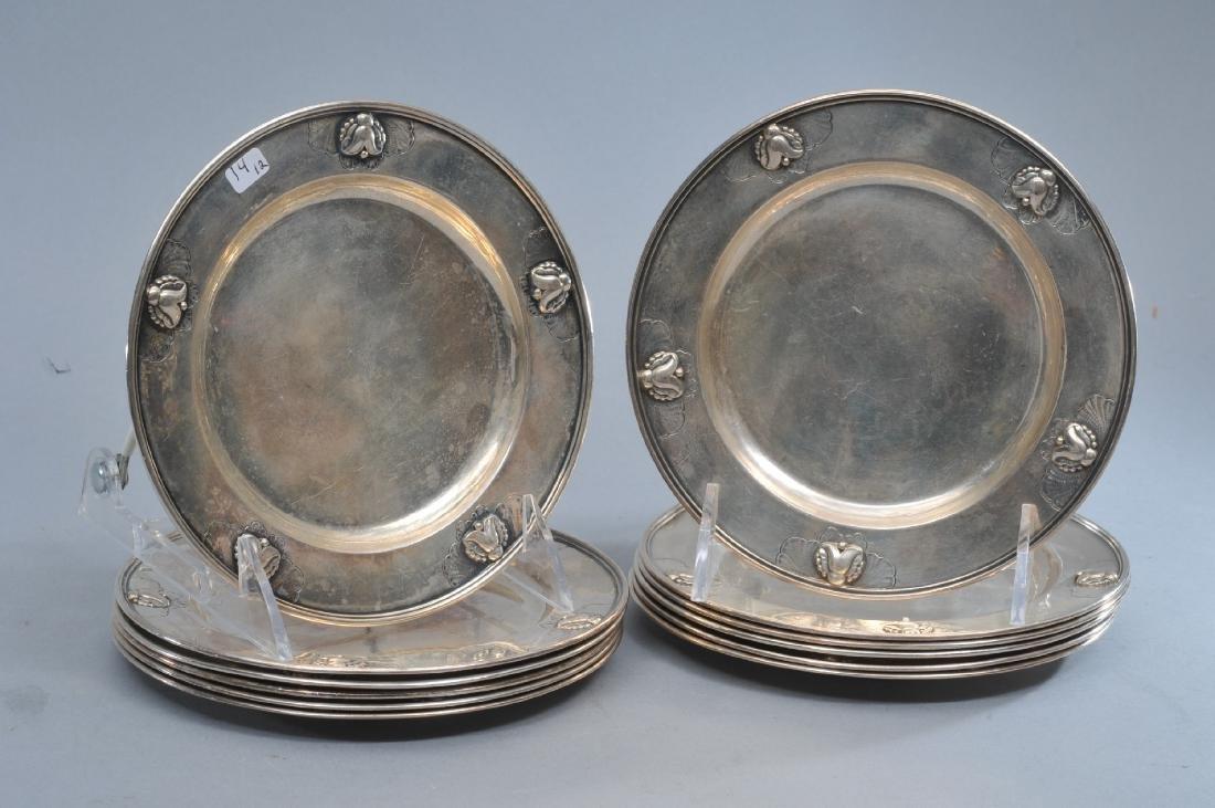 Georg Jensen. Denmark. Sterling silver set of twelve