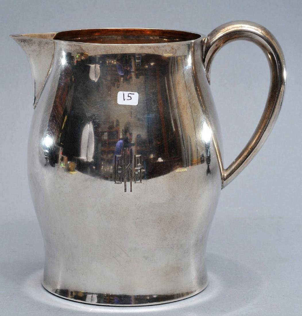 """Tiffany & Co. sterling silver water pitcher. 6-1/2"""""""