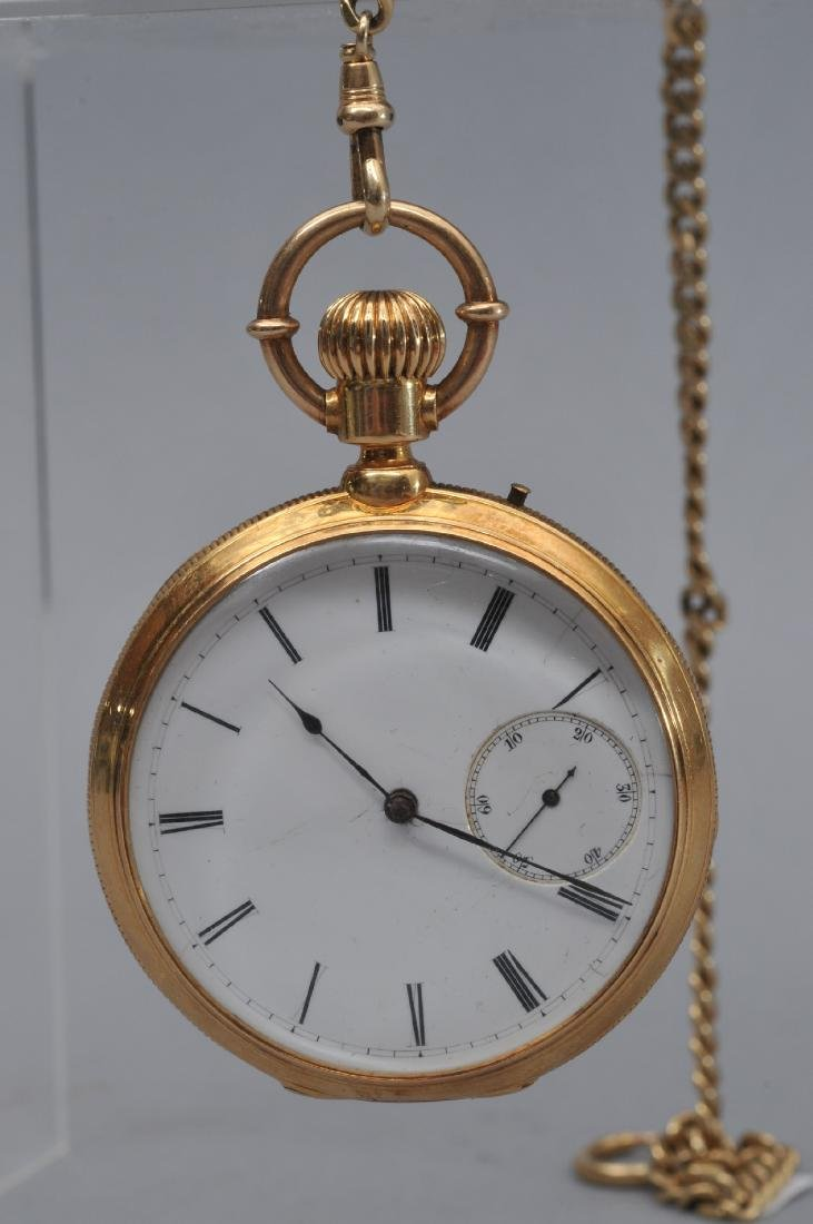 Yellow gold Gentlman's pocketwatch having a 14 karat