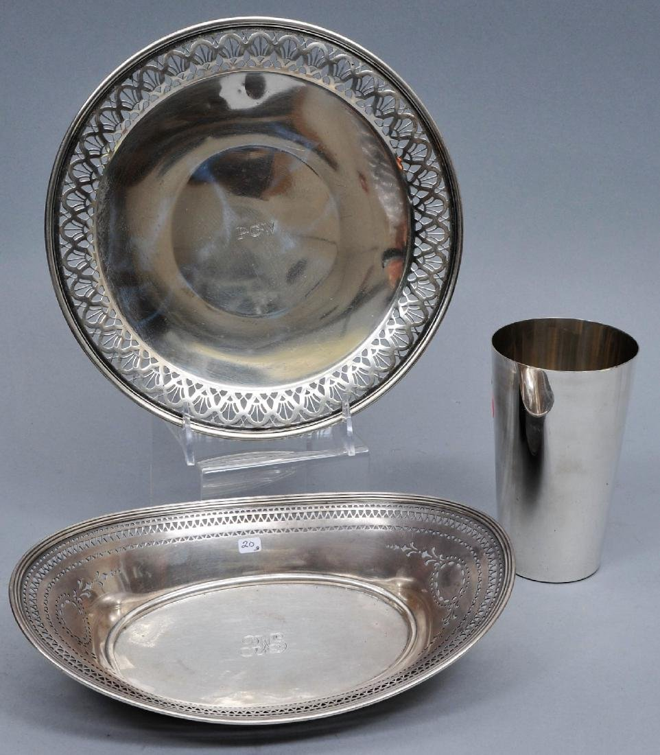 Three piece Tiffany & Co. sterling silver lot. (1)
