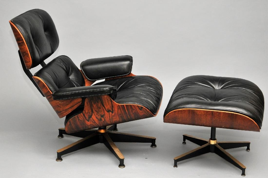 Eames Lounge chair with ottoman by Herman Miller.