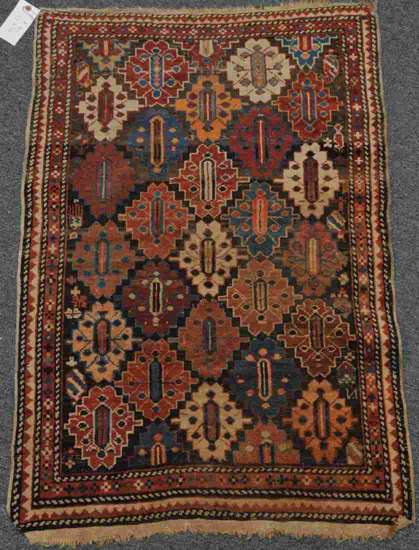 Antique Caucasian Shirvan scatter rug with unusual