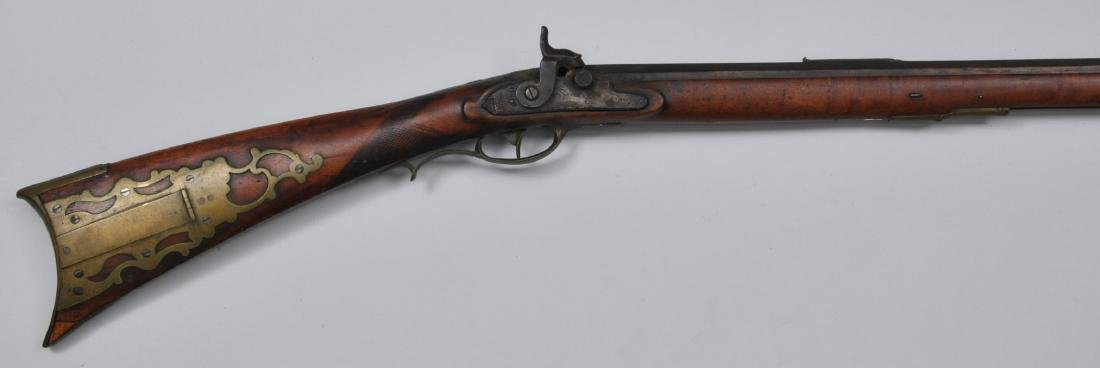 "J.M. Caswell converted percussion Rifle 52"" - 54 cal."