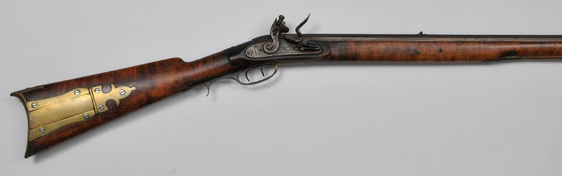 """Signed """"J LUTZ"""" and """"B BRADLEY"""" Rifle 60"""" overall .36"""