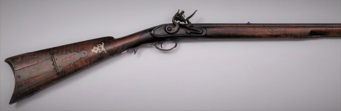Finely engraved furniture on this unsigned Western Penn