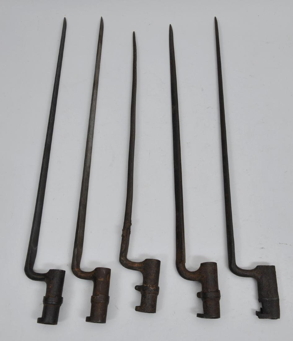 Lot of five 19th century Bayonets. All appear to be