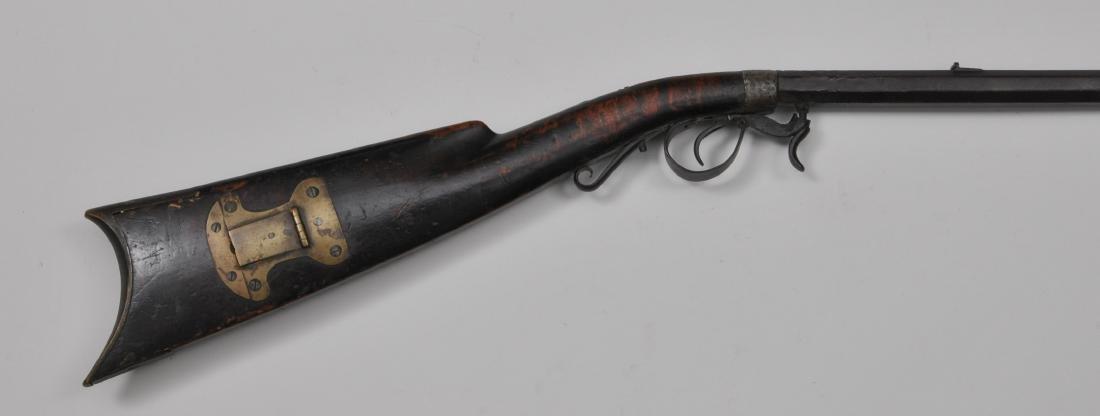 """A unique 1850's era under hammer percussion rifle. 44"""""""