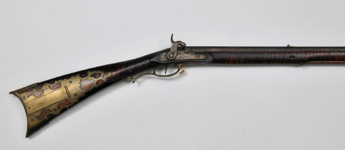 """J.M. Caswell converted percussion Rifle 51-3/4"""""""