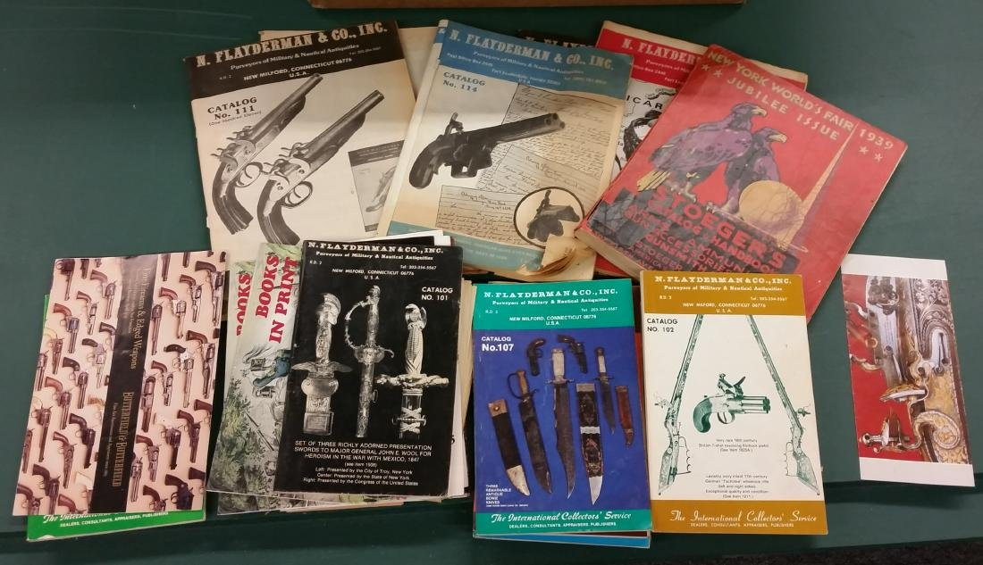 Lot of Firearms catalogs from the 1930s to 1970s.