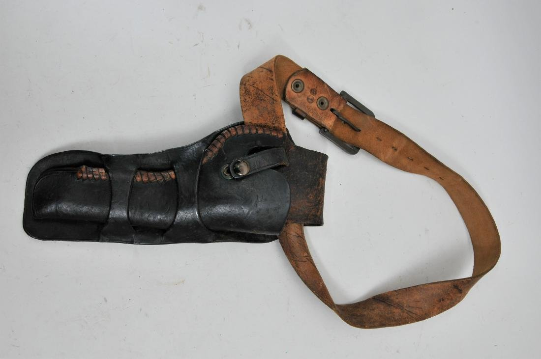 Antique revolver holster with newer replaced belt. 12""