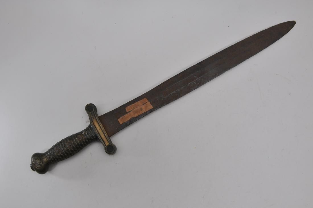 "Model 1832 Foot Artillery Sword. 24-3/4"" overall."
