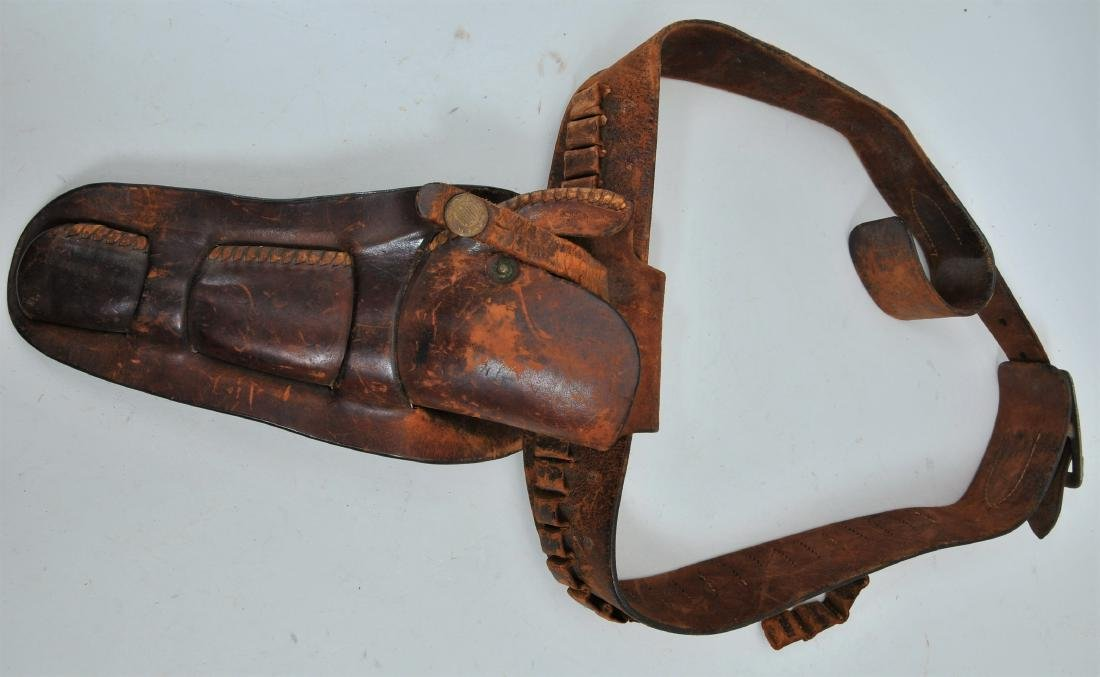 Antique Heiser of Denver Colorado revolver holster with