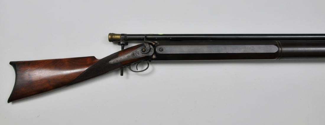 Bench rifle made by Billinghurst with a long tube