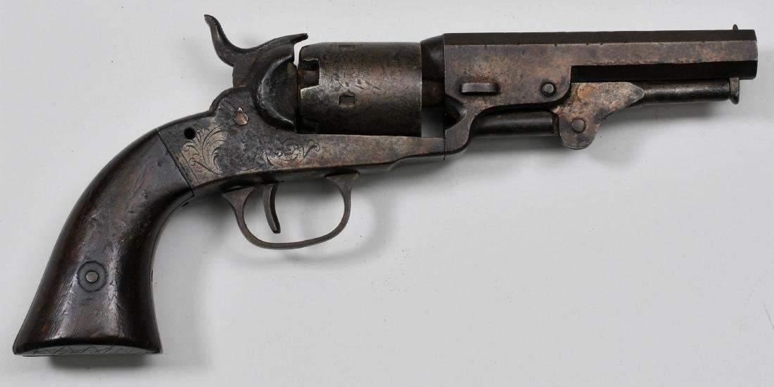 "Scarce First Model Bacon Pocket Revolver. 9"" overall"