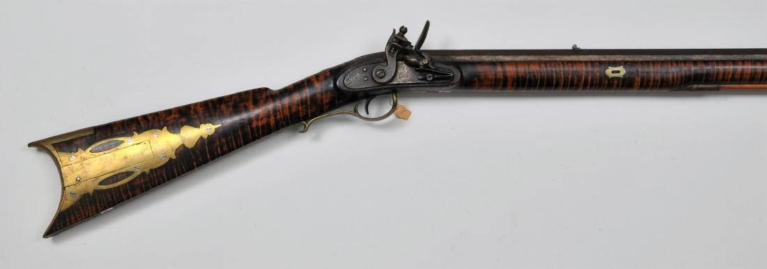 "Signed ""J Haberstro"" rifle with an Eagle around a"