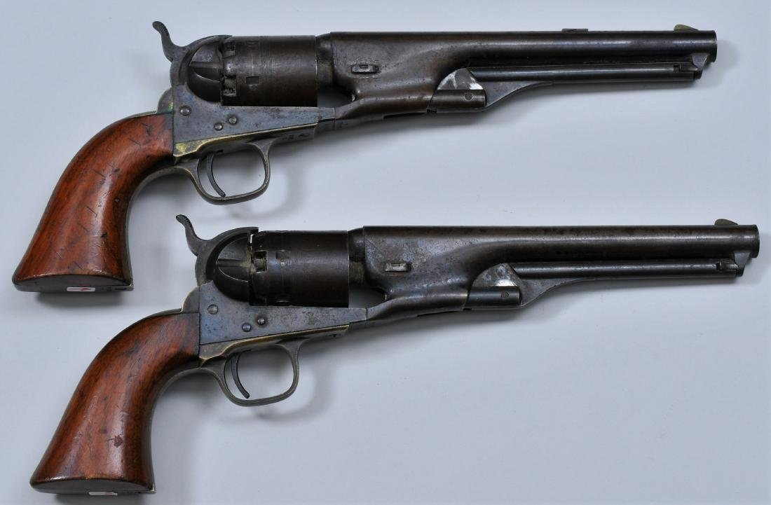 Lot of two Colt model 1861 Navy revolvers. .36 Cal.