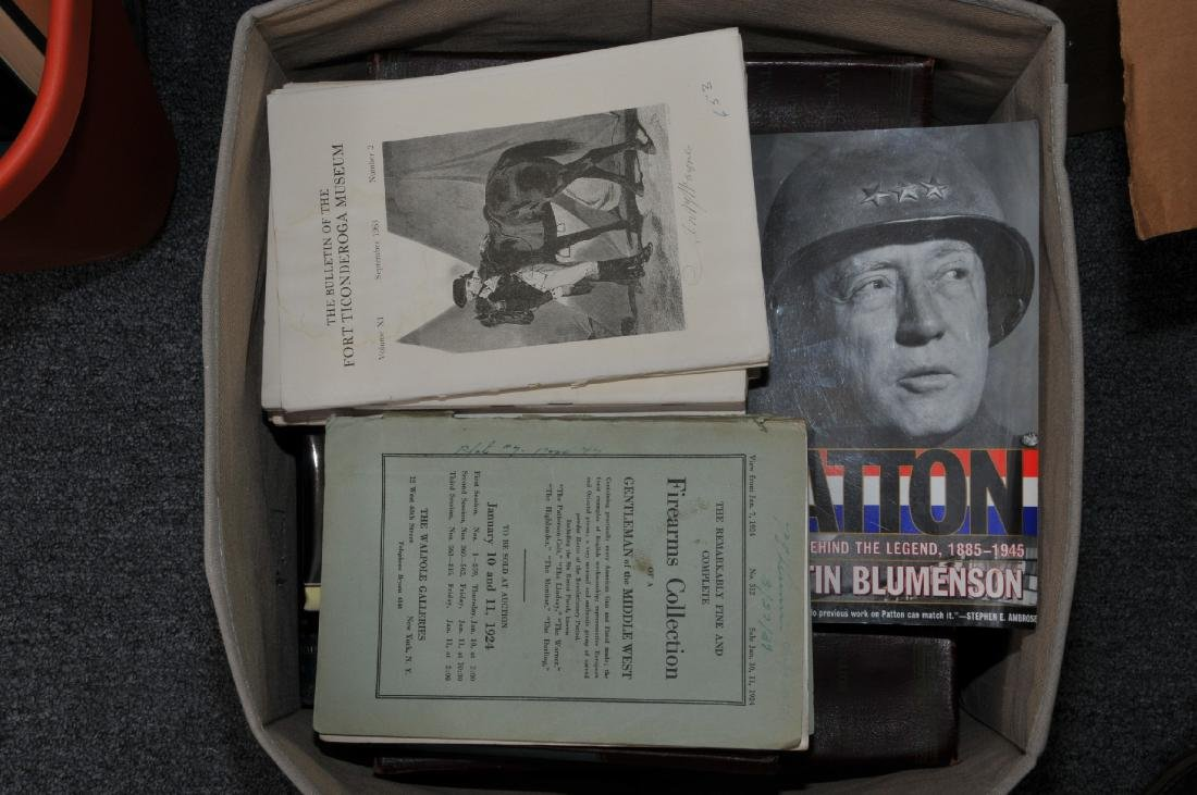 Box of books. Some pertain to American history,
