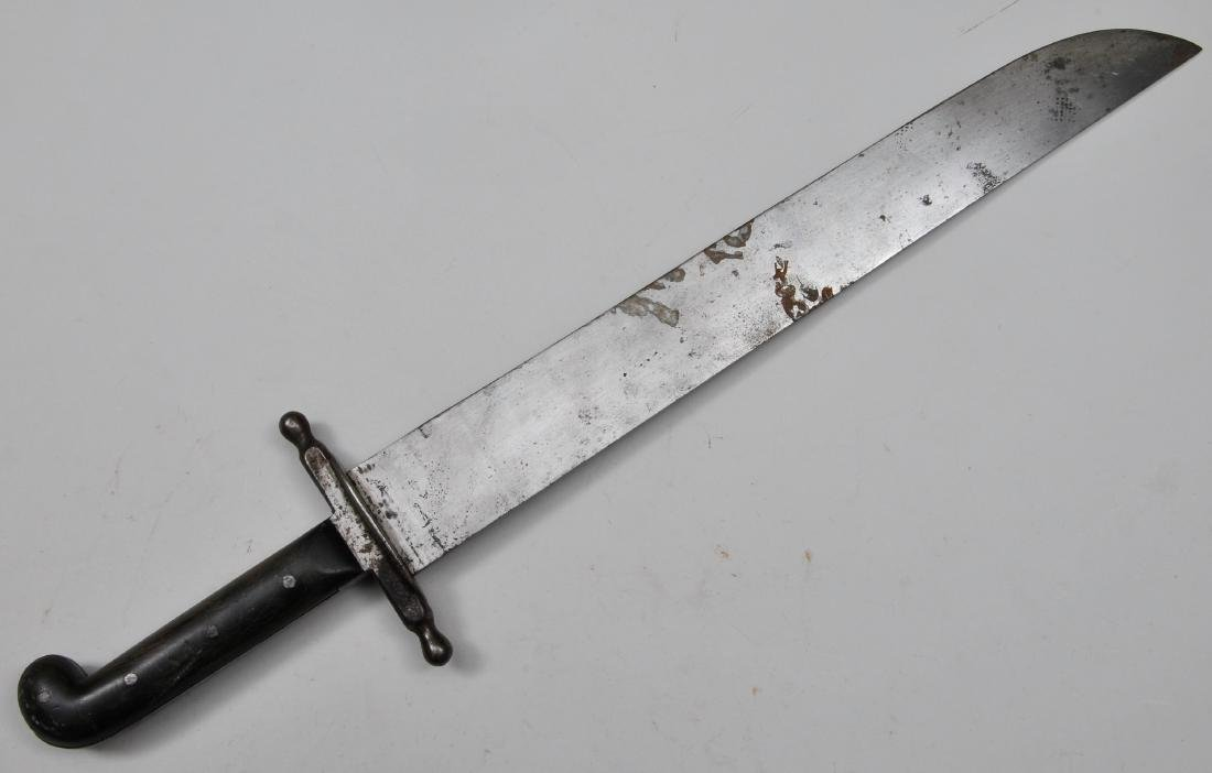 """Large knife or machete 24-1/2"""" overall with an 18"""""""