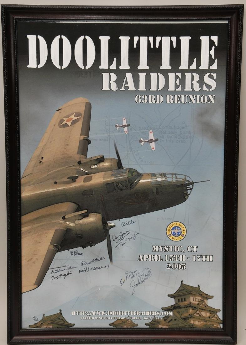 Autographed Doolittle's Raiders Poster. Original proof