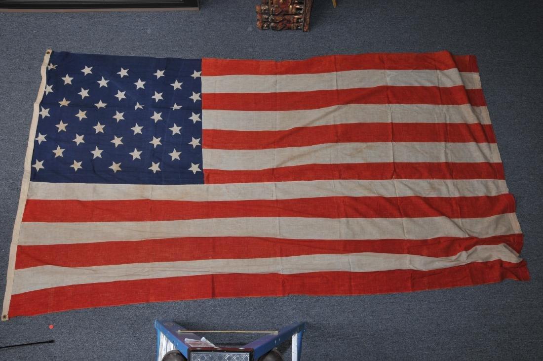 Large 19th century American printed 41 star flag.