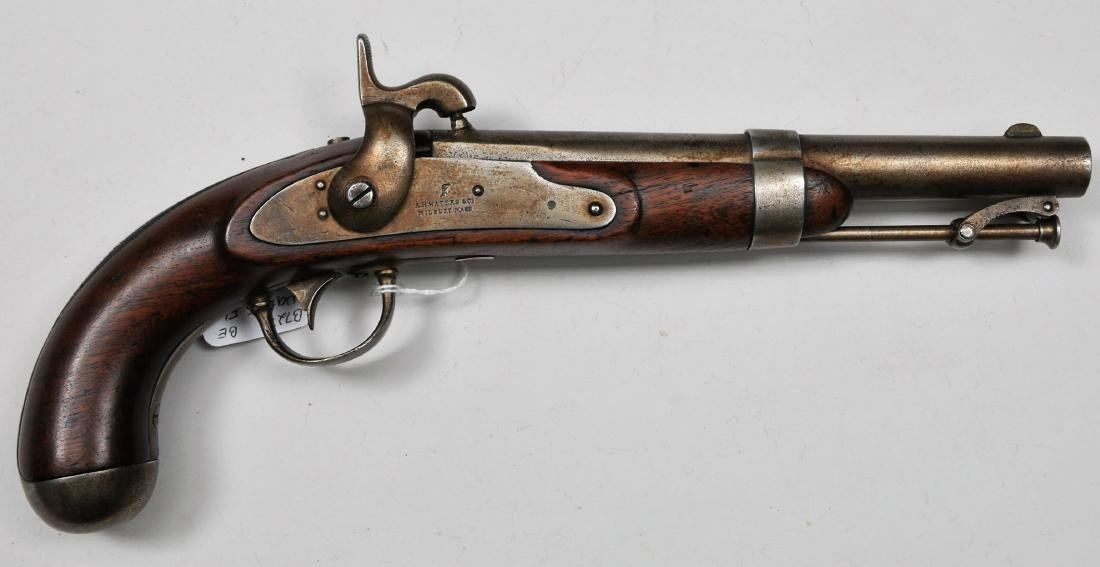 Waters Flatlock pistol. Scarce transitional made after