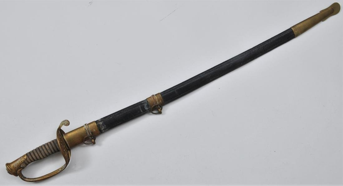 Model 1850 Foot Officers sword with scabbard made by F.