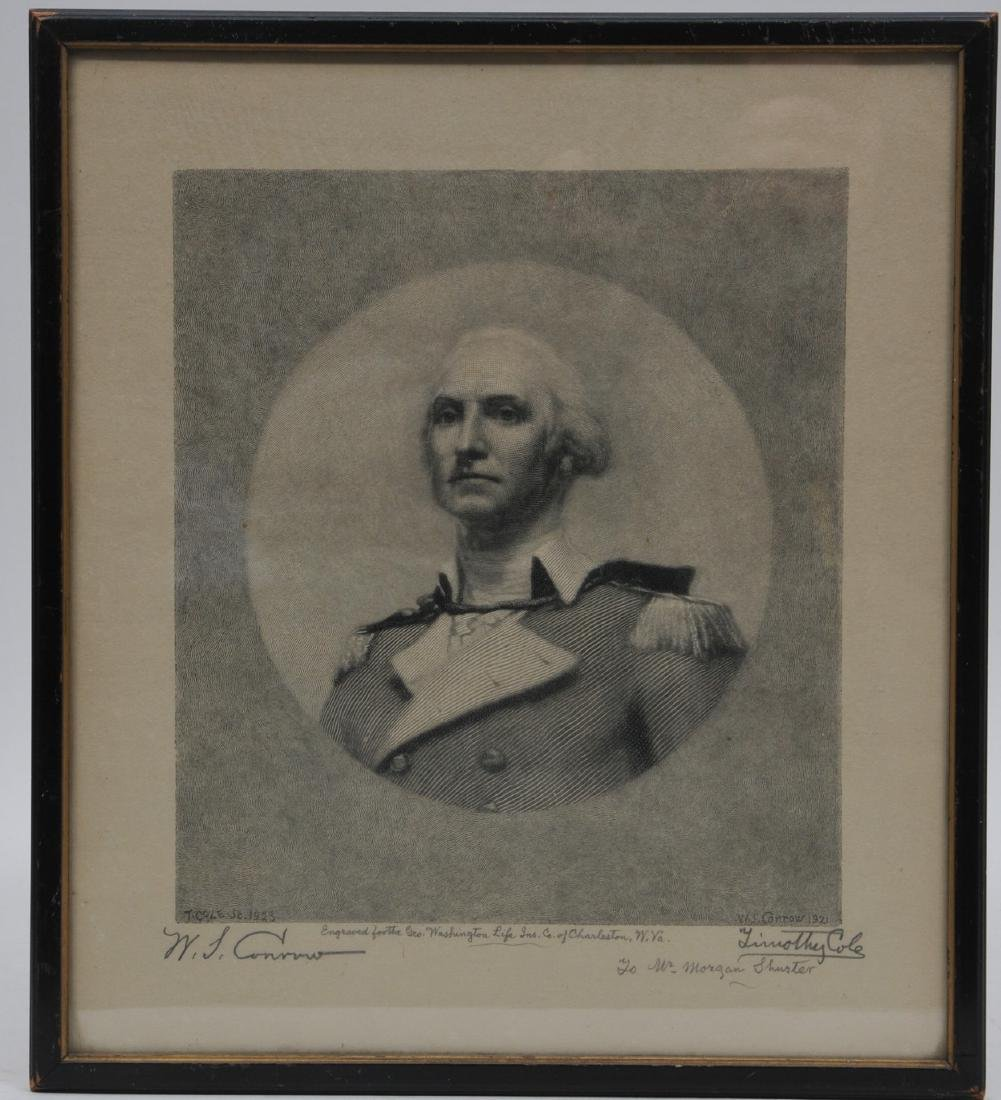 Important George Washington Print by Timothy Cole and