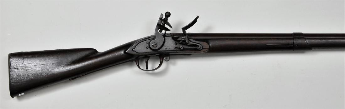 "Asa Waters Model 1808 Flintlock Musket. 59-3/4"" overall"