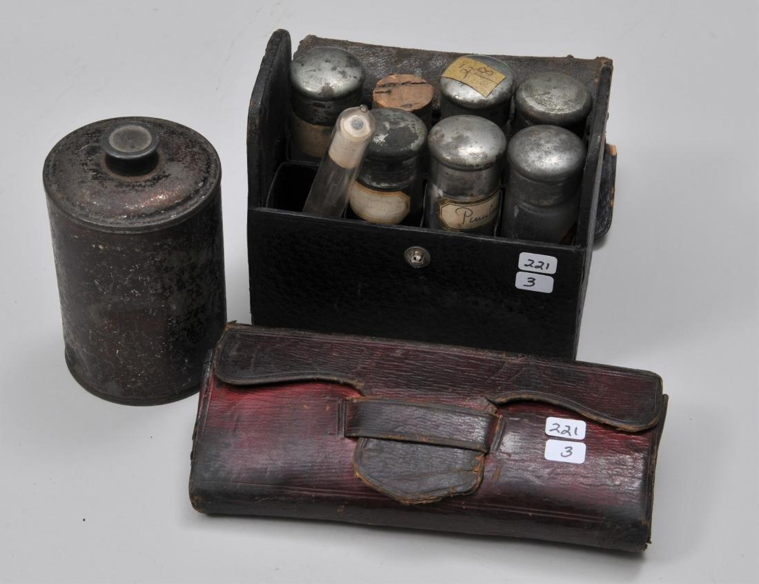 Lot of three Civil War era Medical items. A pocket