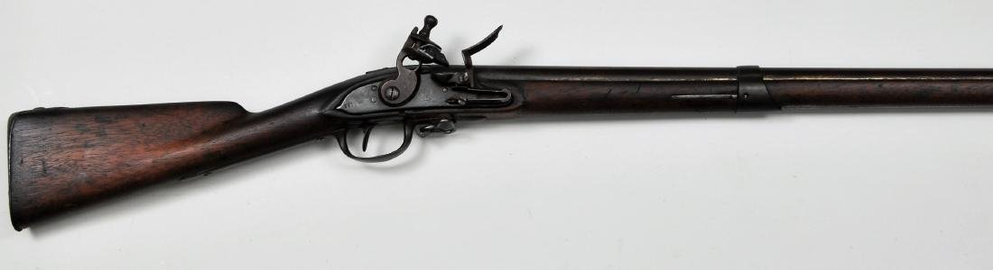 "Asa Waters Model 1808 Flintlock Musket. 59-1/4"" overall"