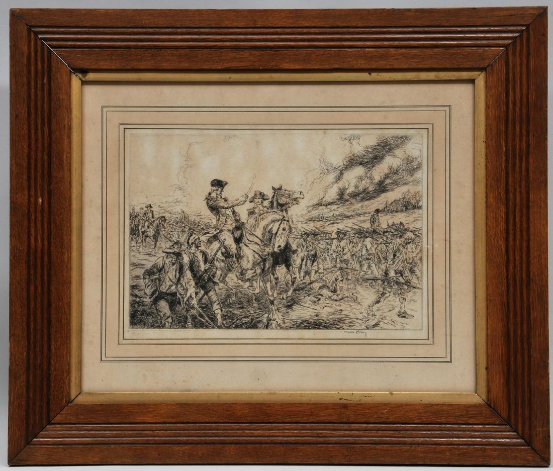 George Washington battle scene by Kerr Eby. Washington
