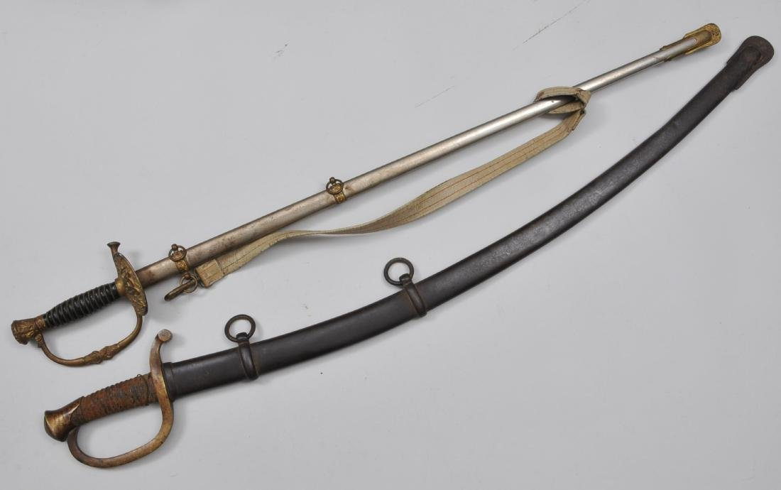 Lot of two swords. A Model 1840 Light Artillery sword