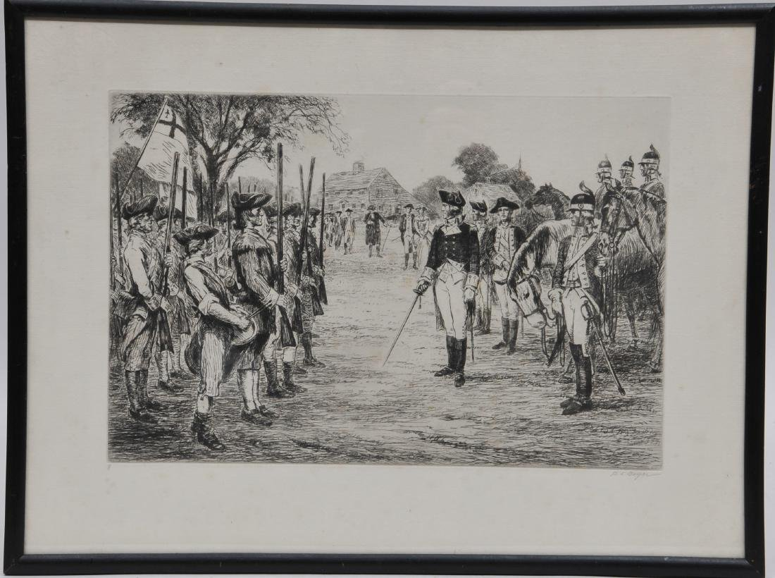 George Washington taking command of the Army in