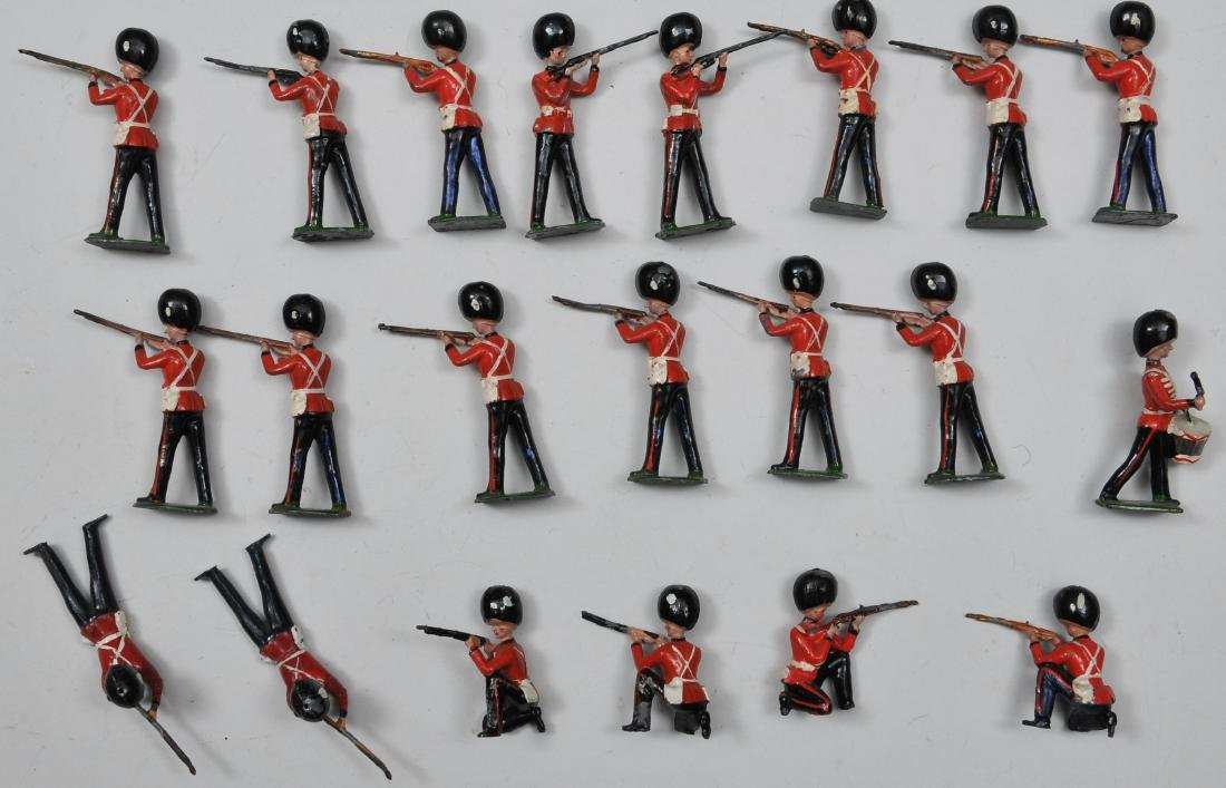 Britain's Grenadier Guards Firing. Approx. 20 figures.