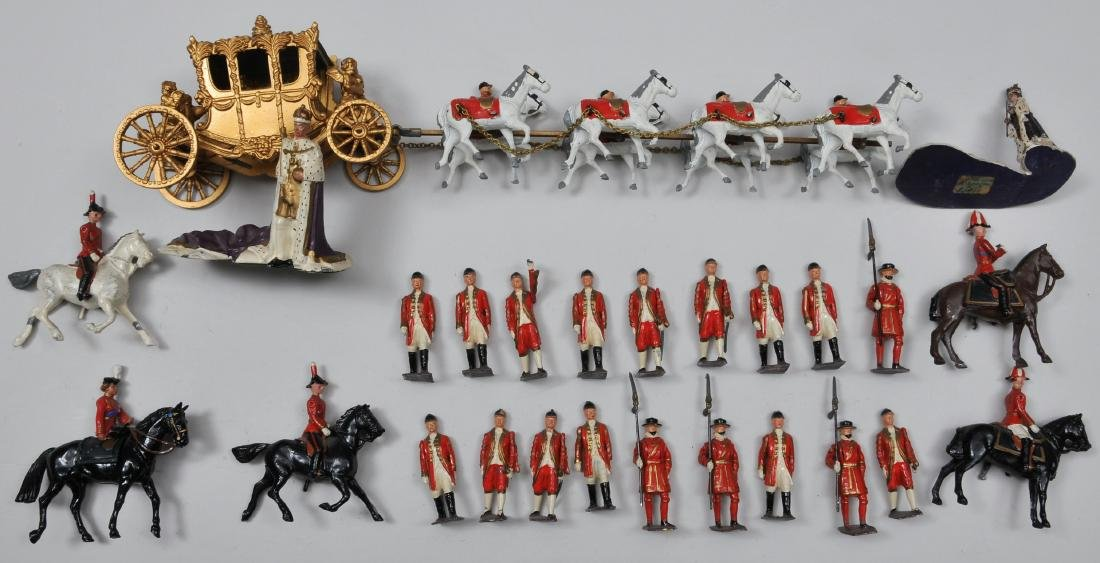 Britain's Coronation set. With Outriders and Footmen,