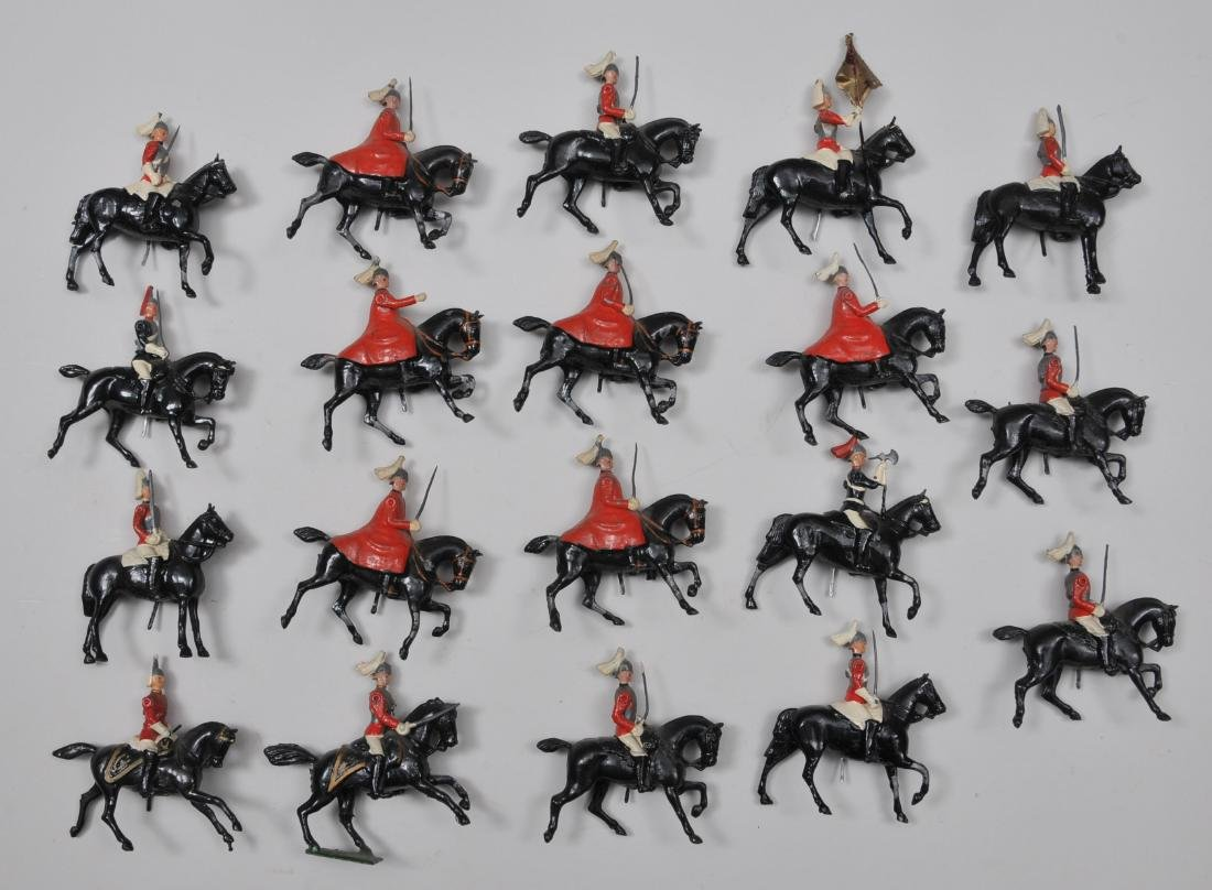 Britain's #400. Life Guards in Winter Cloaks, 6 pieces.