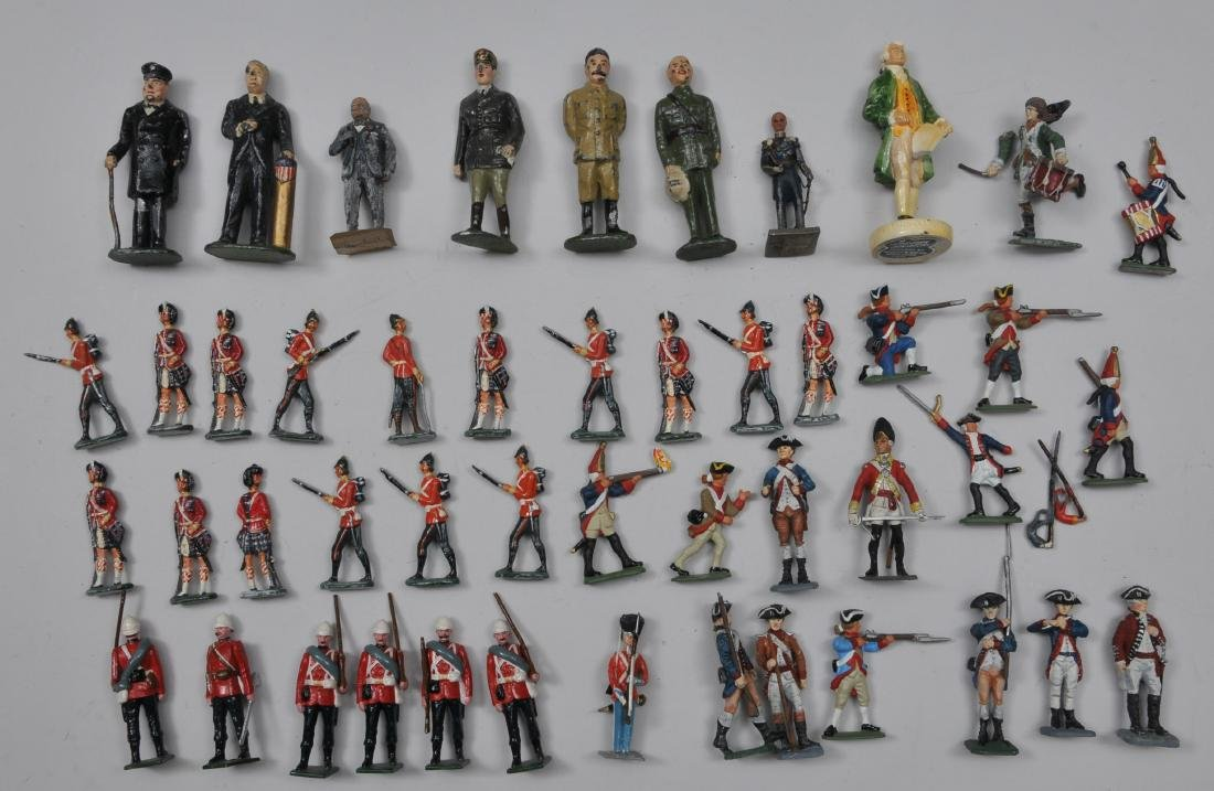 Large lot of mixed Lead Soldiers, Revolutionary War and