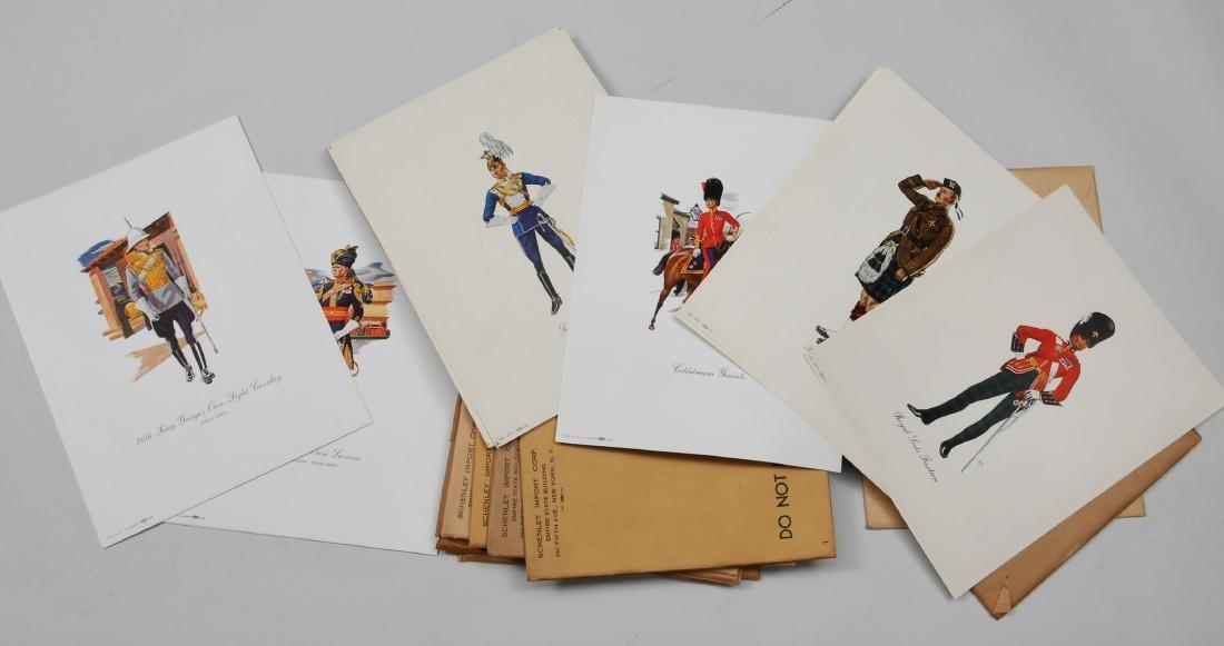 Lot of Dewars White Label Regimental Prints. Approx.