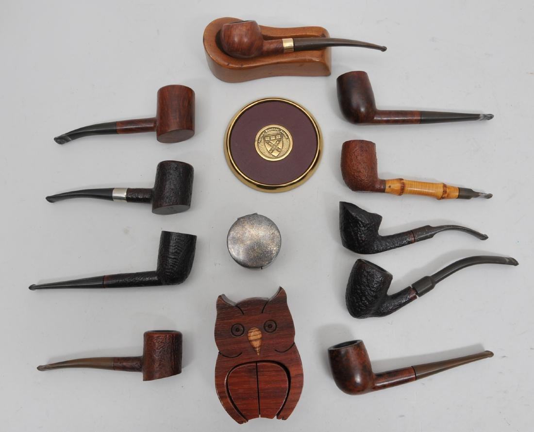 Estate Lot of Vintage Pipes. Includes ten pipes by