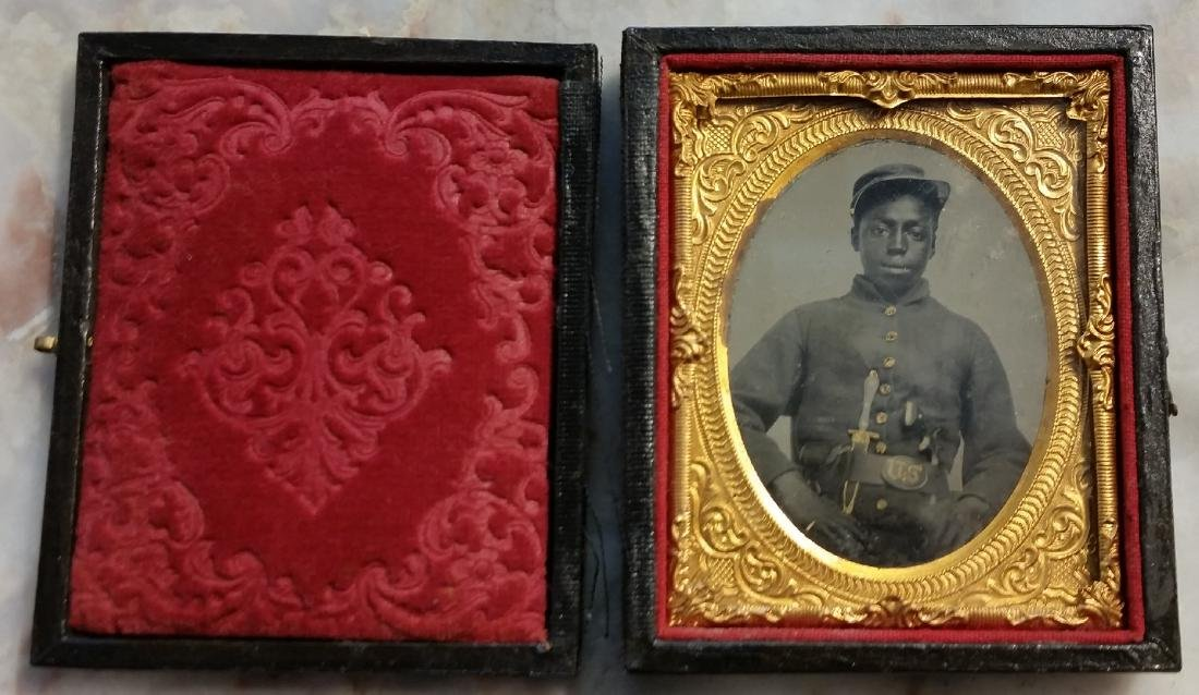 A Civil War Ambrotype of an African American Soldier