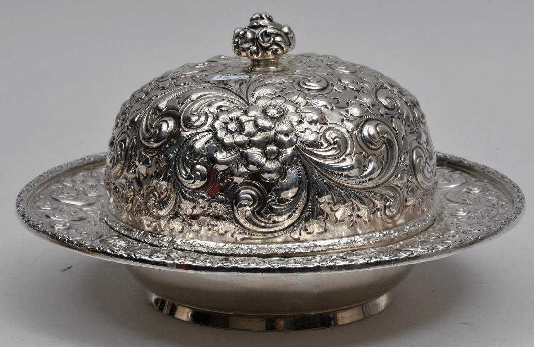Howard & Co. 1886 Sterling Silver allover floral